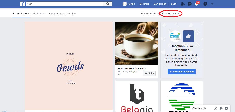 membuat halaman fanpage facebook
