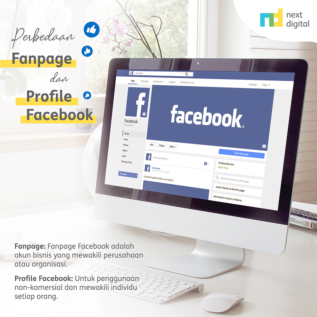 Perbedaan Fanpage dan Profil Facebook
